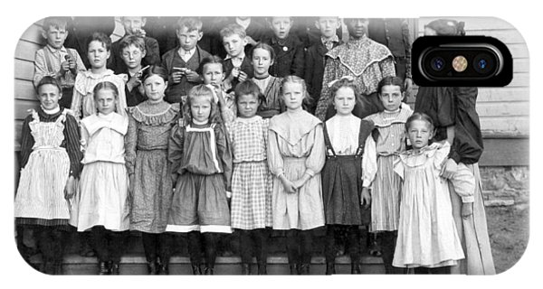 1880s iPhone Case - Portrait Of School Children by Underwood Archives