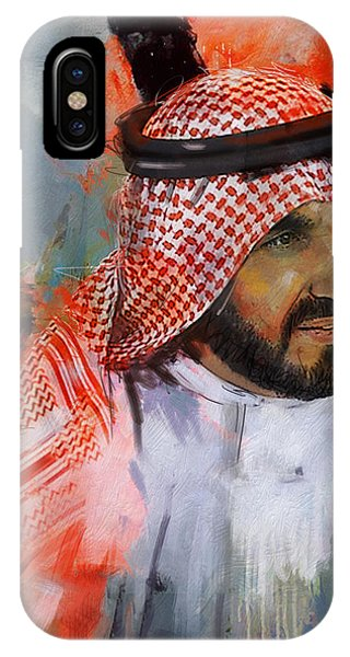 Portrait Of Sheikh Saqr Bin Mohammad Al Qasimi IPhone Case