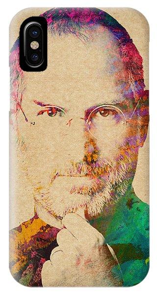 Portrait Of Steve Jobs IPhone Case