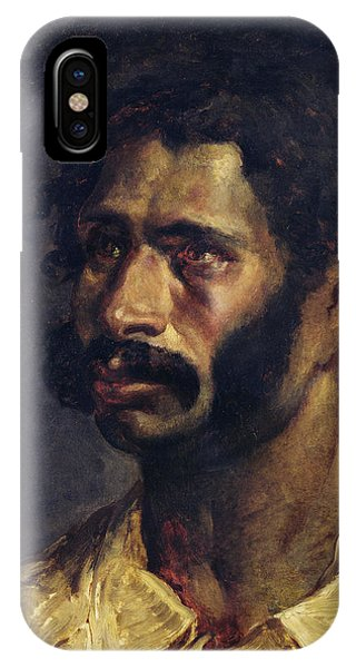 Moustache iPhone Case - Portrait Of The Carpenter Of The Medusa, C.1812 Oil On Canvas by Theodore Gericault