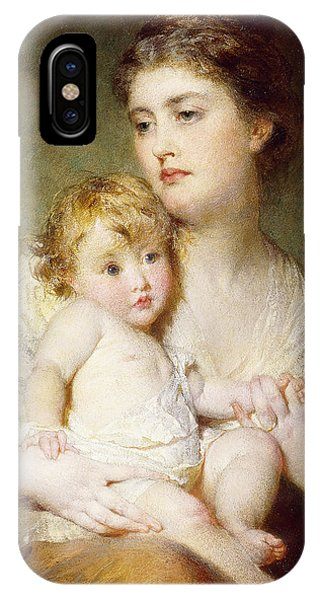 Portrait Of The Duchess Of St Albans With Her Son IPhone Case