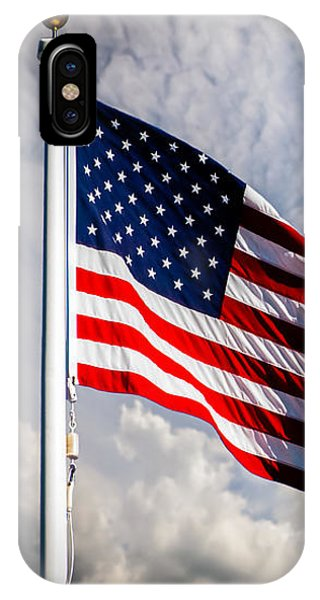 IPhone Case featuring the photograph Portrait Of The United States Of America Flag by Bob Orsillo