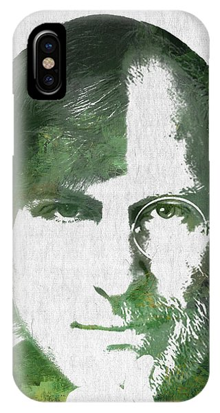 Portrait Of The Young And Old Steve Jobs  IPhone Case