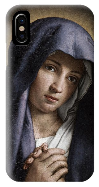 Mary Mother Of God iPhone Case - Portrait Of The Young Virgin Mary by Giovanni Battista Salvi da Sassoferrato