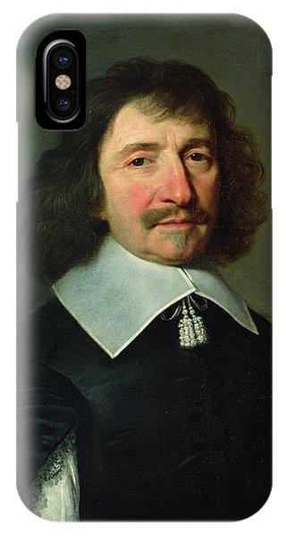 Moustache iPhone Case - Portrait Of Vincent Voiture 1597-1648 C.1643-44 Oil On Canvas by Philippe de Champaigne