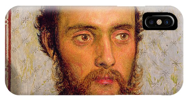 Pre-modern iPhone Case - Portrait Of William Michael Rossetti 1829-1919 By Lamplight, 1856 Panel by Ford Madox Brown