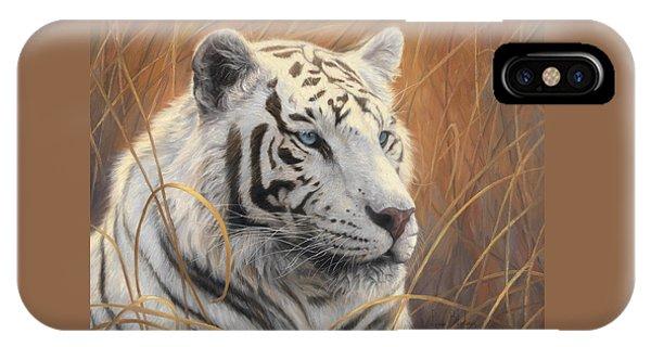 Portrait White Tiger 2 IPhone Case
