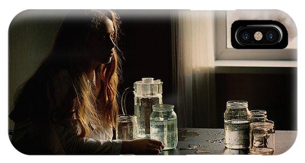 Grain iPhone Case - Portrait With Bottle by Kharinova Uliana