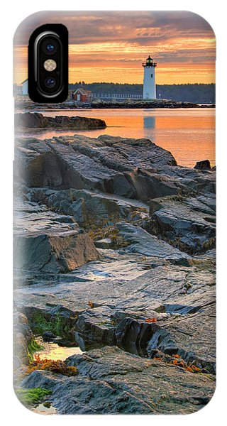 New England Coast iPhone Case - Portsmouth Harbor Light House As Seen by Jerry and Marcy Monkman