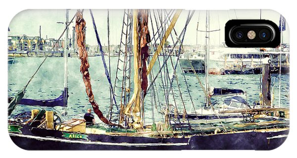 Portsmouth Harbour Boats IPhone Case