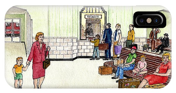 Portsmouth Ohio Train Station Ticket Window Buying A Bag Of Chips1940s IPhone Case