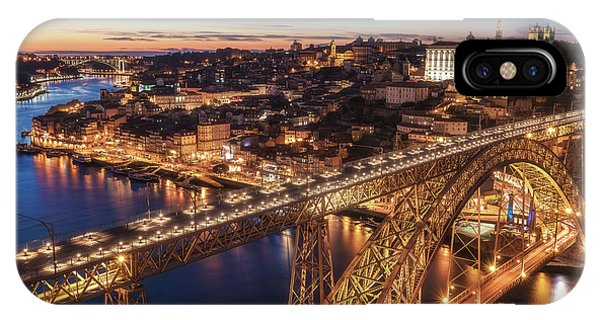 Portugal - Porto Blue Hour Phone Case by Jean Claude Castor