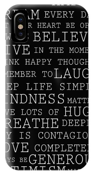 Positive Words IPhone Case