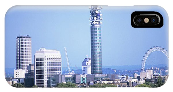 London Eye iPhone Case - Post Office Tower by Mark Thomas/science Photo Library