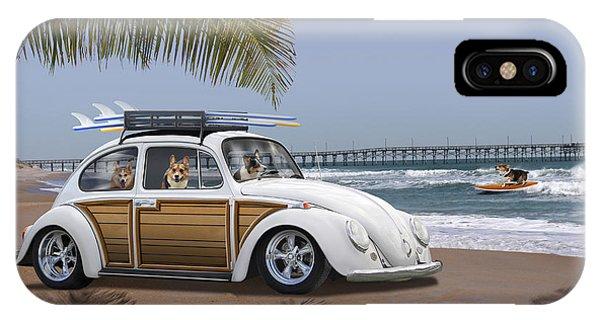 Postcards From Otis - Beach Corgis IPhone Case