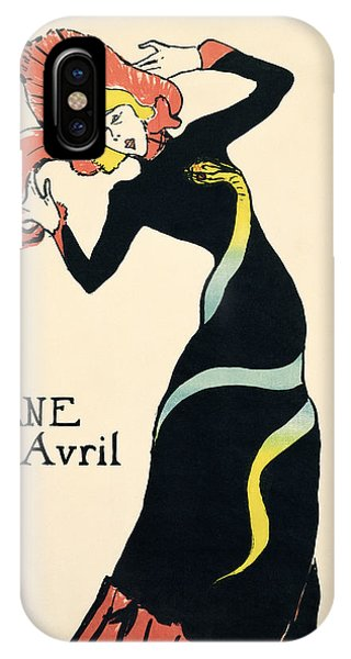 Plumes iPhone Case - Poster For Jane Avril, 1899 by Henri de Toulouse-Lautrec