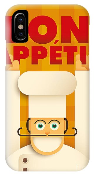 Happy iPhone Case - Poster With A Comic Chef. Vector by Radoman Durkovic