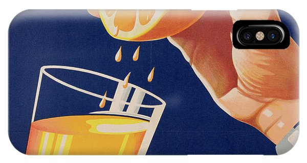 Beverage iPhone Case - Poster With A Glass Of Orange Juice by Israeli School