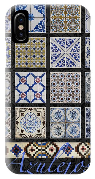 Poster With Colored Portuguese Tile-works  IPhone Case