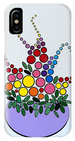 Potted Blooms - Lavendar IPhone Case