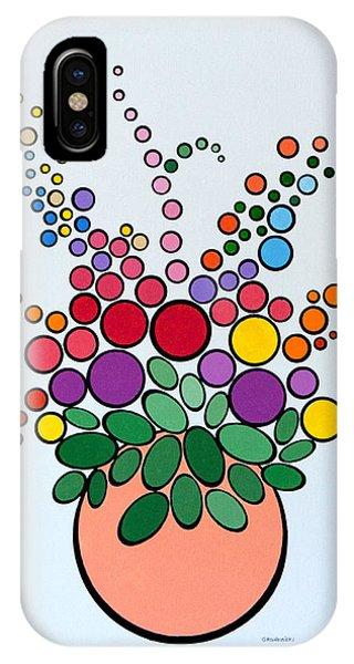 Potted Blooms - Orange IPhone Case