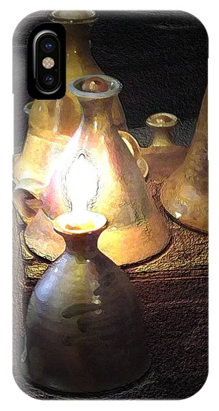 Pottery Oil Lamp  IPhone Case