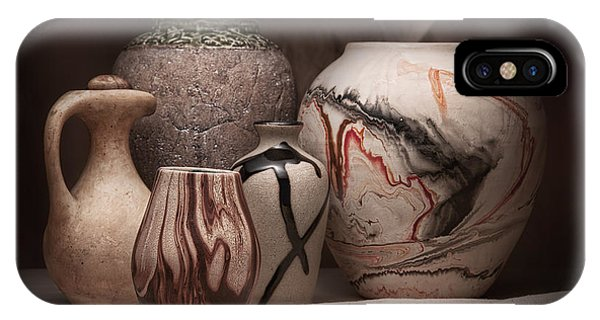 Container iPhone Case - Pottery Still Life by Tom Mc Nemar