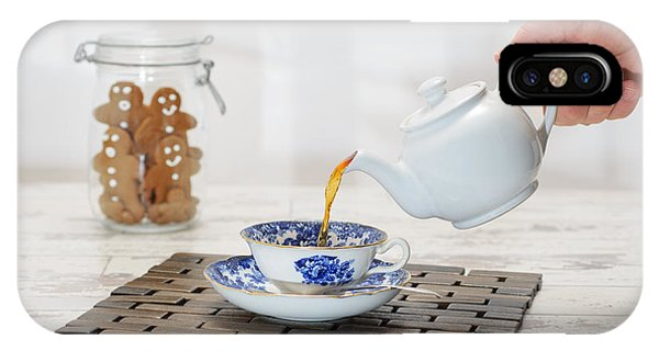 Saucer iPhone Case - Pouring A Cup Of Tea by Amanda Elwell
