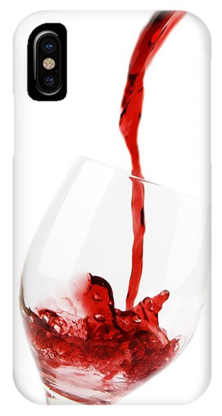 Wine Pouring iPhone Case - Pouring Red Wine by Chevy Fleet