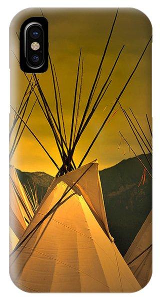 Powwow Camp At Sunrise IPhone Case