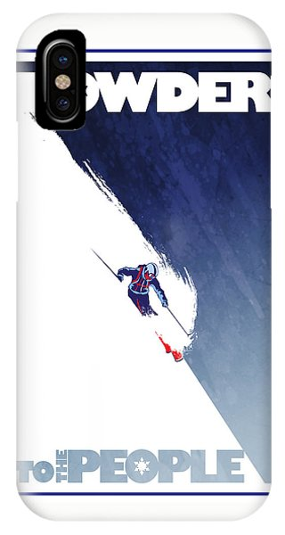 Winter iPhone Case - Powder To The People by Sassan Filsoof