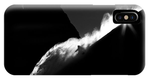 French iPhone X Case - Powder Turn by Tristan Shu