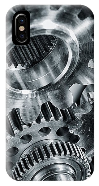 Power Gears And Cogwheels Enginnering And Technology IPhone Case
