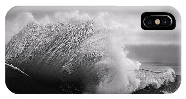 Power In The Wave Bw By Denise Dube IPhone Case
