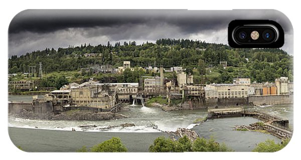 Power Plant At Willamette Falls Lock IPhone Case