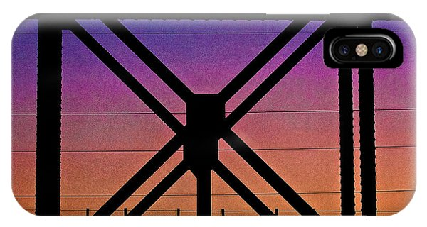 Powerlines And Girders At Sunset IPhone Case