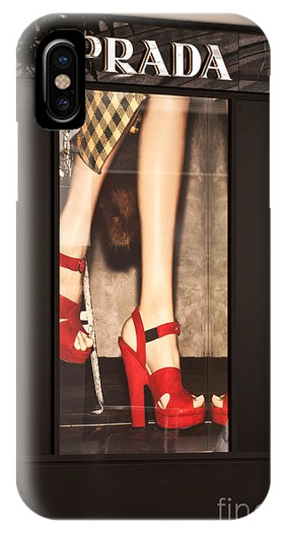 Prada Red Shoes IPhone Case
