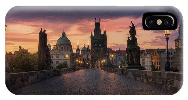 Castle iPhone X Case - Prague-ii by Juan Manuel Fernandez