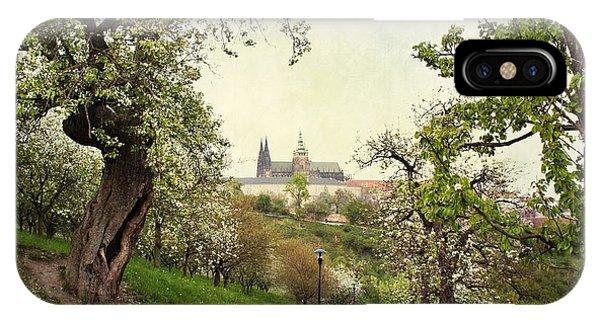 Prague In Bloom I IPhone Case
