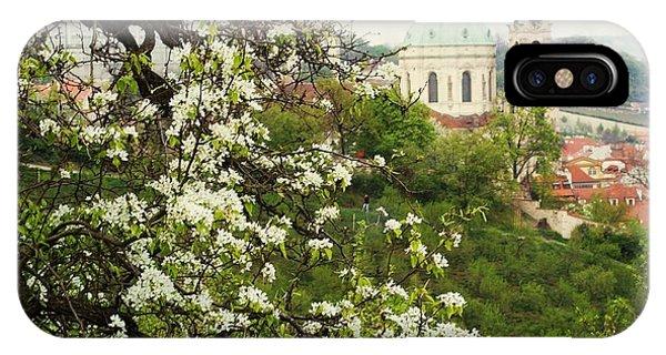 Prague In Bloom II IPhone Case