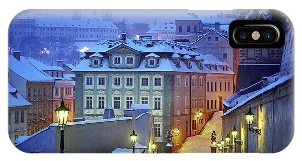 Street Light iPhone Case - Prague In White by Martin Froyda