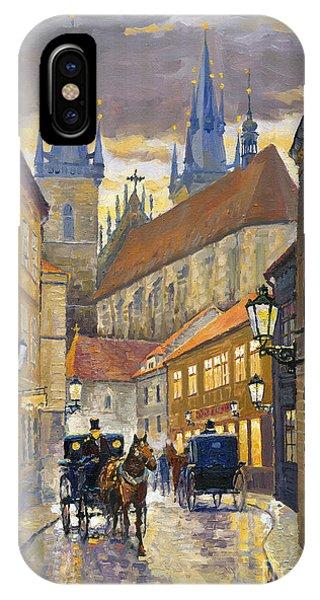 Street Light iPhone Case - Prague Old Street Stupartska by Yuriy Shevchuk