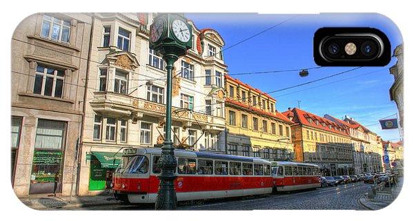 Prague Streetcar IPhone Case