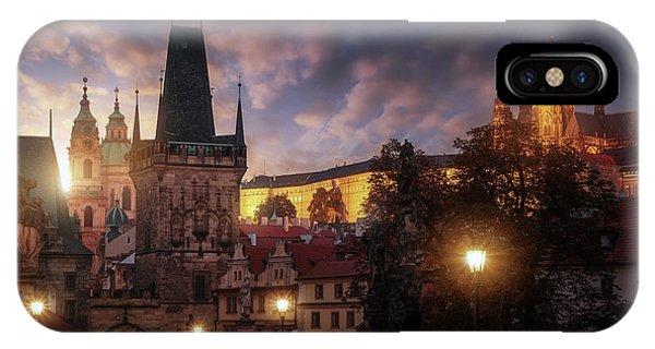 Landmark iPhone Case - Prague Sun. by Juan Pablo De