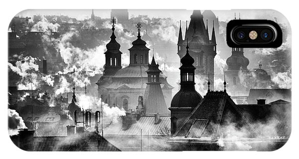 Rooftops iPhone Case - Prague Towers' by Martin Froyda