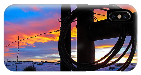 Prairie Fence Sunset IPhone Case
