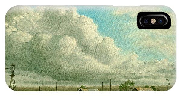 Windmill iPhone Case - Prairie Sky by Paul Krapf