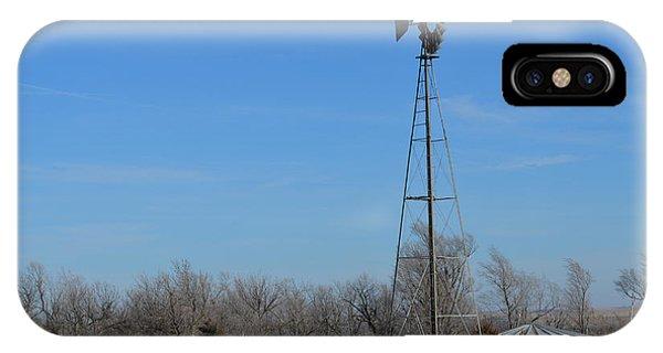 Prairie Windmill IPhone Case