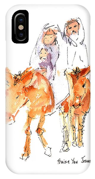 Praise You Jesus Watercolor Painting By Kmcelwaine IPhone Case