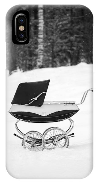 Etna iPhone Case - Pram In The Snow by Edward Fielding